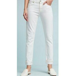 CofH White Jazmin Ankle Cuffed Slim Straight Jeans